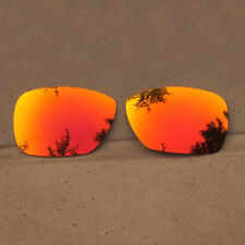 b5e0c66284 Orange Red Mirrored Replacement Lenses for-Oakley Inmate Sunglasses  Polarized