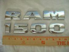 "RAM 1500 chrome plastic letter emblem sticker name used Dodge truck 1 3/4"" tall"