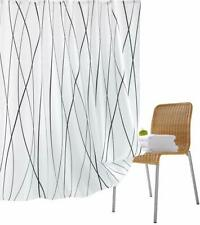 Polyester Machine Shower Curtain 72''*x72'' White Geometric Lines Bathroom