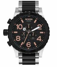 *NEW* NIXON 51-30 A083-2051 WATCH MENS SIVER BLACK TONE - NEXT DAY DELIVERY