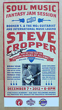 Steve Cropper (Booker T. & MGs) - Orig. signed poster - Stax Blues Brothers