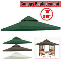 10x10' Double Tire Gazebo Top Canopy Replacement UV30 Patio Outdoor Garden Cover