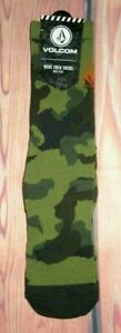 MENS VOLCOM CAMOUFLAGE GREEN CREW SOCKS SIZE (9-12)