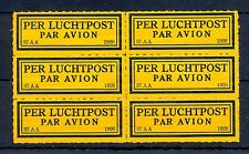 NEDERLAND 1926  KLM   AIRMAIL LABEL  (37 AA )  PANE OF 6  ** MNH   @26