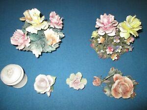 rose in ceramica di capodimonte anni 50