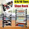 18-50 Pair 4/6/10 Tier Shoe Storage Rack Tower Standing Saving Space  Organizer