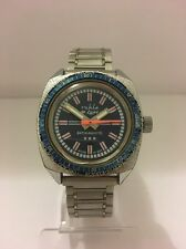 Ruhla GMT Bezel De Luxe Antimagnetic Vintage Collectible Watch