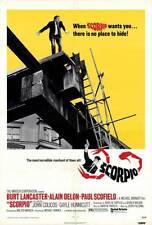 SCORPIO Movie POSTER 27x40 Burt Laner Alain Delon Paul Scofield John Colicos