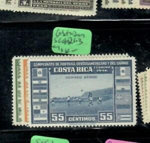 COSTA RICA  AIR MAIL STAMPS (P3107BB)  FOOTBALL   SC C 121-3      MOG
