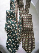 2  hand made SILK TIES  DESIGNER LABELS  NEW