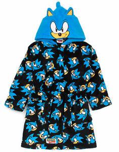 Sonic The Hedgehog Dressing Gown Kids Boys Character Bath-robe