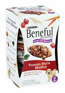 Purina Beneful Medleys Perfect for Mixing Tuscan Style (2) Packs Of 3-3 oz Cans