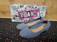 Brash 181130 ABBY Light Blue Women's Flat Shoes Size 6.5 New With Box