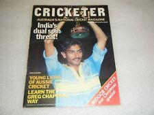 Vintage December 1985 CRICKETER Australia's national cricket magazine