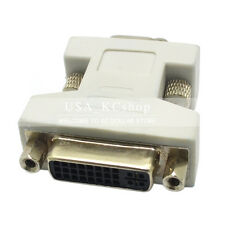 New DVI DVI-I Female 24+5 pin to VGA Male 15-pin Connector Dual Link Adapter