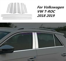 Window Sills+Pillar Posts Trims Cover Tirm For Volkswagen VW T-ROC 2018-2019