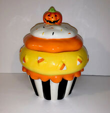 Kohl's Halloween Cupcake Candy Corn Cookie Jar
