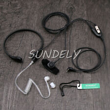 Tactical Throat Mic Headset/Earpiece with Finger PTT For Uniden UHF CB Radio UH