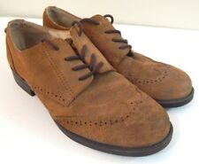 Sam Edelman Women's 8.5 Shoes Irving Brown Suede Distressed Oxford Wing Tip EUC