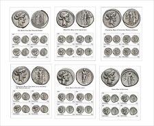 ROMAN COINS MUSES 6 SOUVENIR SHEETS UNPERFORATED COIN