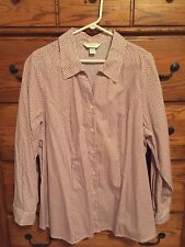 *NWOT* CJ Banks Red/Black Geo Pattern Button Up Shirt - 2X - FREE SHIPPING