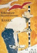 Original Plakat - Schweizer Mustermesse Basel, Falk Hans