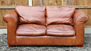 Laura Ashley Burgess Leather Sofa in great condition