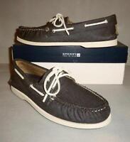 Sperry Men's Top-Sider A/O 2-Eye Dark Denim Canvas Boat Shoes SIZES! NIB Navy