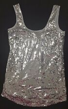 Supre Womens Size S/10 Mini Tunic Length Sequin Dress - SILVER/PEWTER - BNWT
