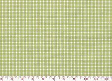 Green White Check Drapery Upholstery Fabric by P Kaufmann Cape Island CL Apple