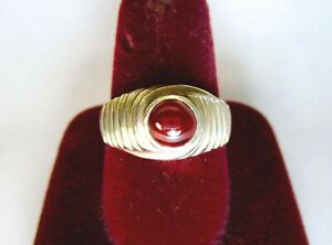 925 ST. SILVER RING WITH 1.5 Ct. 6 MM ROUND RUBY, Size P
