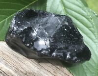 75g  PROTECTIVE NATURAL RAW BLACK OBSIDIAN CRYSTAL HEALING ROCK  Italy  REIKI