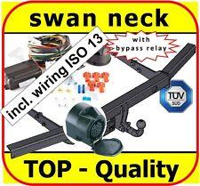 Towbar & Electric 13pin VW Transporter T5  Multivan Caravelle 2003-ON swan neck