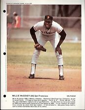 1973 French Canadien Dimanche Derniere Heure Willie McCovey San Francisco Giants