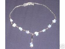 BEAUTIFUL THAI RAINBOW MOONSTONE LINK NECKLACE