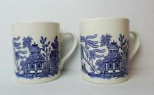 Blue and White Japanese Decorated Coffee Mug Made in England LOT of 2