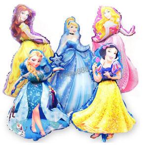 98cmx69cm Giant Disney Princess Foil Balloon for Kids Birthday Theme Party Decor