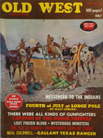 Old West Fall 1969 Vtg Magazine Indian Messenger Horse Thieves Monsters NoML VG