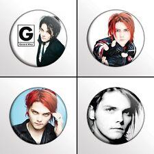 "4-Piece Gerard Way My Chemical Romance 1"" Pinback Buttons / Pins / Badges Set"