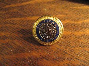 American Legion Button - Vintage Veterans Club USA Jacket Sweater Gold Button