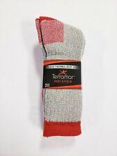 Terramar 2 Pack Stalker Thermal Comfort Boot Socks Merino Blend Gray Red Size L