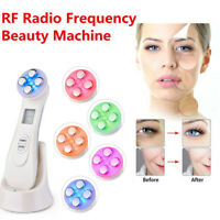 Facial Mesotherapy RF 5 LED Photon Face Lifting Tighten Wrinkle Removal Massager