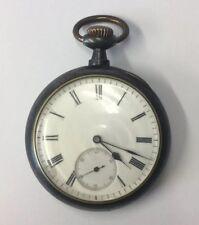 Fine Antique Gun Metal Omega Pocket Watch 4cm Face Diameter (Not Working)