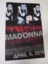 MADONNA  STICKY AND SWEET TOUR  Poster 2010 Promotional 2 Sided Poster 11X17 NEW
