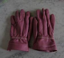 Gant en cuir rose femme taille S