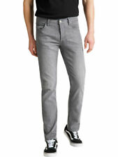Lee Herren Jeans Daren Regular Slim Denim Stretch Hose Baumwolle Grau