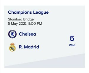 2021 PRE-ORDER.CHAMPIONS LEAGUE CHELSEA v REAL MADRID OFFICIAL PROGRAMME MINT