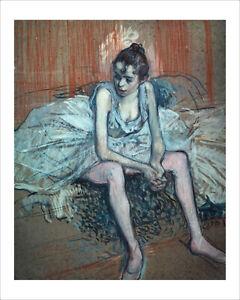 Toulouse-Lautrec - Ballet Dancer Seated - fine art giclee print various sizes