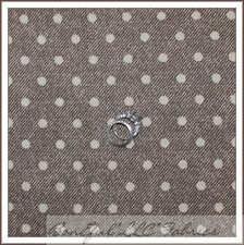 BonEful Fabric Fq Cotton Quilt Brown Tan Cream Cow*boy Vtg Bias Stripe Polka Dot