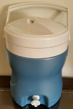 Maxcold Blue White Igloo 2 Gallon Contour Water Cooler Jug w/ Spigot & Vent
